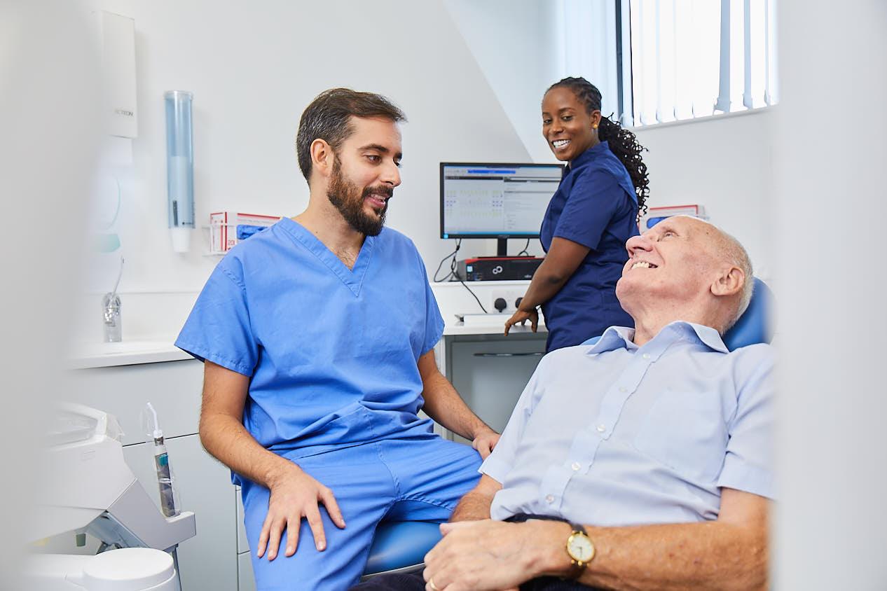 Patient in dentist's chair